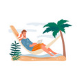 concept freelance work from vacation vector image