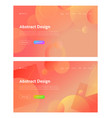 coral abstract geometric circle shape landing page vector image vector image