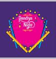 creative dandiya night invitation card design vector image