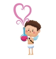 cute cupid valentine day elixir love vector image vector image