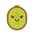 cute smiling exotic kiwi isolated colorful vector image vector image