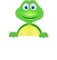 cute turtle with blank sign vector image
