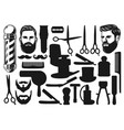 cutting shaving trimming silhouettes barbershop vector image vector image