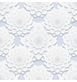 Decorative seamless pattern with gray flowers vector image