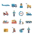 Delivery Icons Flat Set vector image