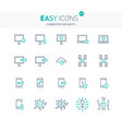 easy icons 43e computer security vector image vector image