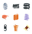 flexible cable icon set flat style vector image vector image