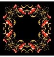Floral frame pattern vector image