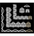Frame Elements Set - different lace edges and bord vector image vector image