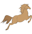 Funny brown horse vector image vector image
