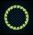 gold and green circle isolated on transparent vector image vector image