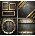 gold on concrete wall set vector image