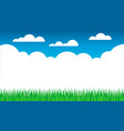 grass sky cloud background summer vector image