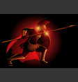 greek mythical figure achilles vector image vector image