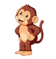 happy monkey dancing and smile vector image vector image