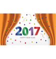 Happy New Year 2017 Colorful glossy type vector image vector image