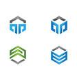 hexagon logo icon vector image