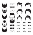 hipster man male beard mustache hair isolated vector image