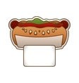 hot dog fast food icoon vector image