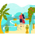 hot tour romantic travel for couple at summer vector image