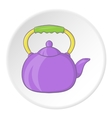Kettle icon cartoon style vector image vector image