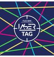 Laser tag target game poster flyer lasertag banner vector image vector image