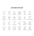 line icons set autumn pack vector image vector image