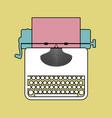 logo style retro outlines typewriter vector image vector image