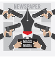 Mass Media Is The Hostage vector image vector image