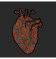 mechanical heart vector image vector image