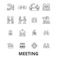meeting conference business room presentation vector image vector image