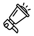 megaphone icon outline style vector image vector image