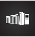 modern architecture building on black background vector image vector image
