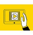movie online design vector image