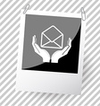 open mail with hands vector image vector image