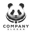 panda logo design vector image vector image