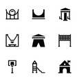 park rides glyph icons vector image