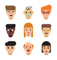 people avatars set modern flat character cartoon vector image vector image