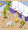 pest control isometric background vector image