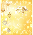 postcard on Valentines day with pendants vector image vector image