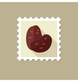 Potato flat stamp with long shadow vector image vector image