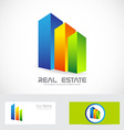 Real estate colors buildings logo icon vector image vector image