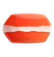 red macaroon icon cartoon style vector image vector image