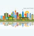 san antonio texas skyline with color buildings vector image vector image