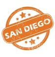 San Diego round stamp vector image vector image