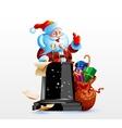 Santa Claus standing behind a podium vector image