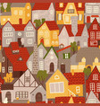 seamless pattern colorful buildings in flat vector image vector image