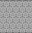 seamless pattern in black geometric lines vector image vector image
