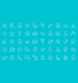 set line icons startup vector image