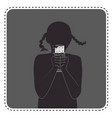 silhouette avatar girl with chocolate vector image vector image